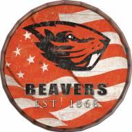 "Oregon State Beavers 24"" Flag Barrel Top"
