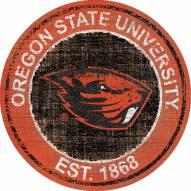 "Oregon State Beavers 24"" Heritage Logo Round Sign"