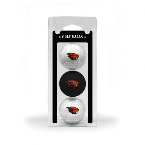 Oregon State Beavers 3 Pack of Golf Balls