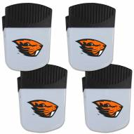 Oregon State Beavers 4 Pack Chip Clip Magnet with Bottle Opener