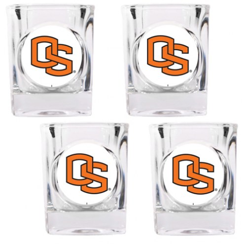 Oregon State Beavers 4 Piece Square Shot Glasses