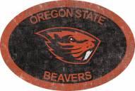 "Oregon State Beavers 46"" Team Color Oval Sign"