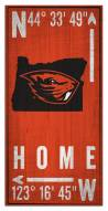 "Oregon State Beavers 6"" x 12"" Coordinates Sign"