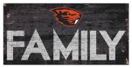 """Oregon State Beavers 6"""" x 12"""" Family Sign"""
