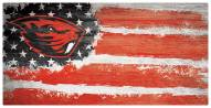 "Oregon State Beavers 6"" x 12"" Flag Sign"