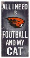 "Oregon State Beavers 6"" x 12"" Football & My Cat Sign"