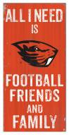 """Oregon State Beavers 6"""" x 12"""" Friends & Family Sign"""