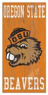 "Oregon State Beavers 6"" x 12"" Heritage Logo Sign"