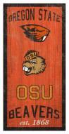 "Oregon State Beavers 6"" x 12"" Heritage Sign"