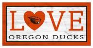 "Oregon State Beavers 6"" x 12"" Love Sign"