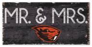 "Oregon State Beavers 6"" x 12"" Mr. & Mrs. Sign"