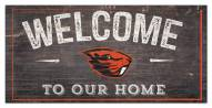 """Oregon State Beavers 6"""" x 12"""" Welcome Sign"""