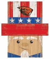 "Oregon State Beavers 6"" x 5"" Patriotic Head"