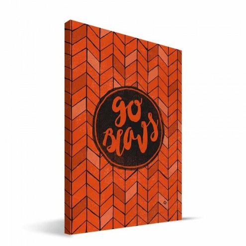 "Oregon State Beavers 8"" x 12"" Geometric Canvas Print"