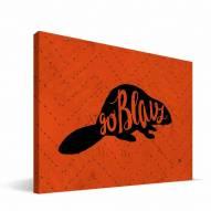 "Oregon State Beavers 8"" x 12"" Mascot Canvas Print"