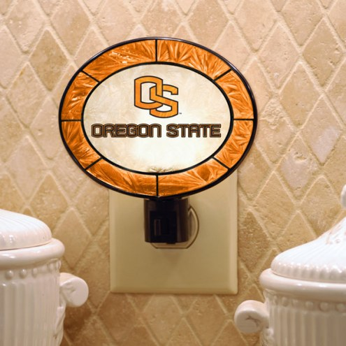 Oregon State Beavers Art Glass Night Light