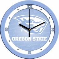 Oregon State Beavers Baby Blue Wall Clock