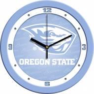 Oregon State Beavers Baby Blue Wall Clock