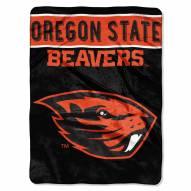 Oregon State Beavers Basic Plush Raschel Blanket