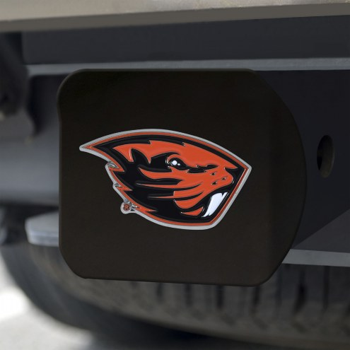 Oregon State Beavers Black Color Hitch Cover