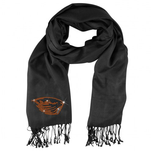 Oregon State Beavers Black Pashi Fan Scarf