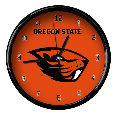 Oregon State Beavers Black Rim Clock