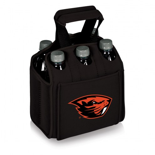 Oregon State Beavers Black Six Pack Cooler Tote