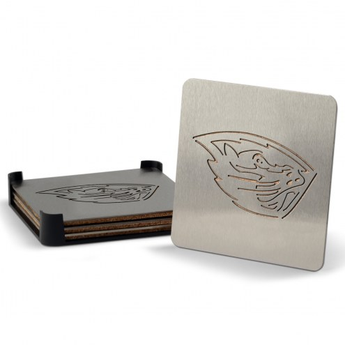 Oregon State Beavers Boasters Stainless Steel Coasters - Set of 4