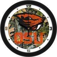 Oregon State Beavers Camo Wall Clock