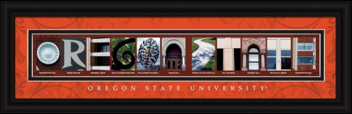 Oregon State Beavers Campus Letter Art