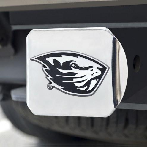 Oregon State Beavers Chrome Metal Hitch Cover