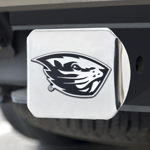 Oregon State Beavers Chrome Metal Hitch Cover
