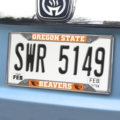 Oregon State Beavers Chrome Metal License Plate Frame