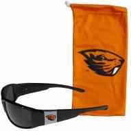 Oregon State Beavers Chrome Wrap Sunglasses & Bag