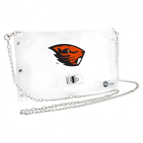 Oregon State Beavers Clear Envelope Purse
