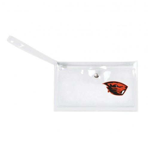 Oregon State Beavers Clear Ticket Wristlet