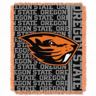Oregon State Beavers Double Play Woven Throw Blanket