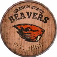 """Oregon State Beavers Established Date 24"""" Barrel Top"""