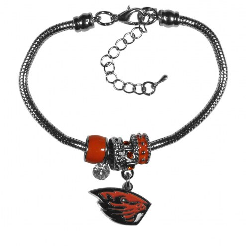 Oregon State Beavers Euro Bead Bracelet