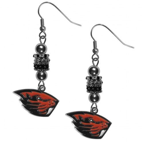 Oregon State Beavers Euro Bead Earrings