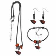 Oregon State Beavers Euro Bead Jewelry 3 Piece Set