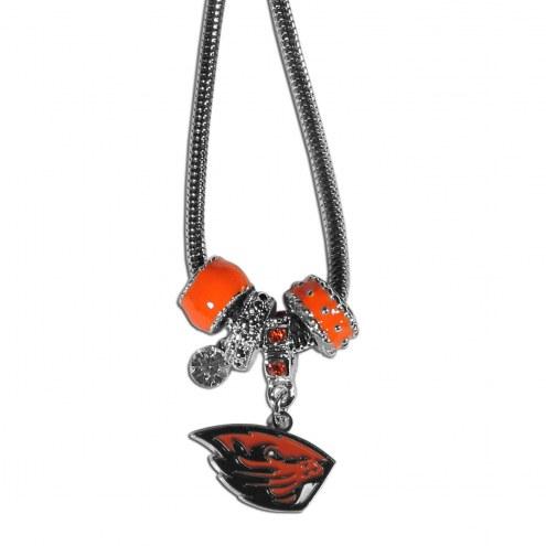 Oregon State Beavers Euro Bead Necklace