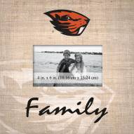 Oregon State Beavers Family Picture Frame