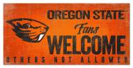 Oregon State Beavers Fans Welcome Sign
