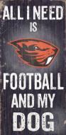 Oregon State Beavers Football & Dog Wood Sign
