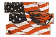 Oregon State Beavers Flag 3 Plank Sign