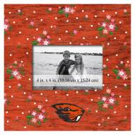 """Oregon State Beavers Floral 10"""" x 10"""" Picture Frame"""