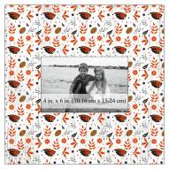 """Oregon State Beavers Floral Pattern 10"""" x 10"""" Picture Frame"""