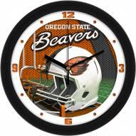 Oregon State Beavers Football Helmet Wall Clock