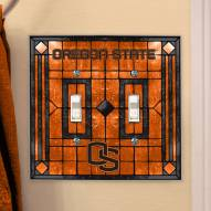 Oregon State Beavers Glass Double Switch Plate Cover